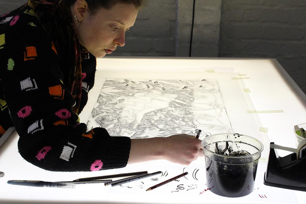 Olivié Keck drawing positives